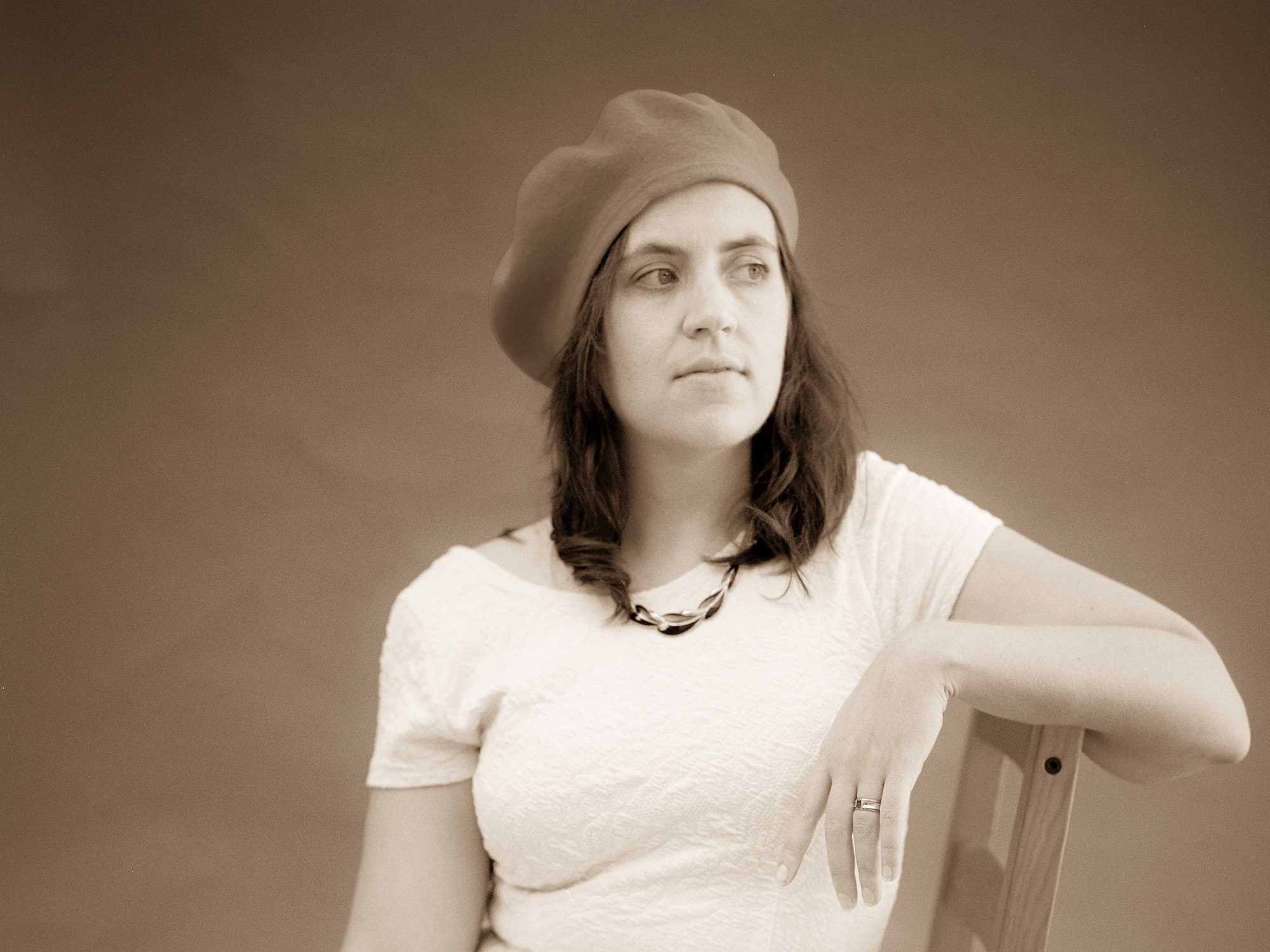 Portrait of Amy in Sepia Tone