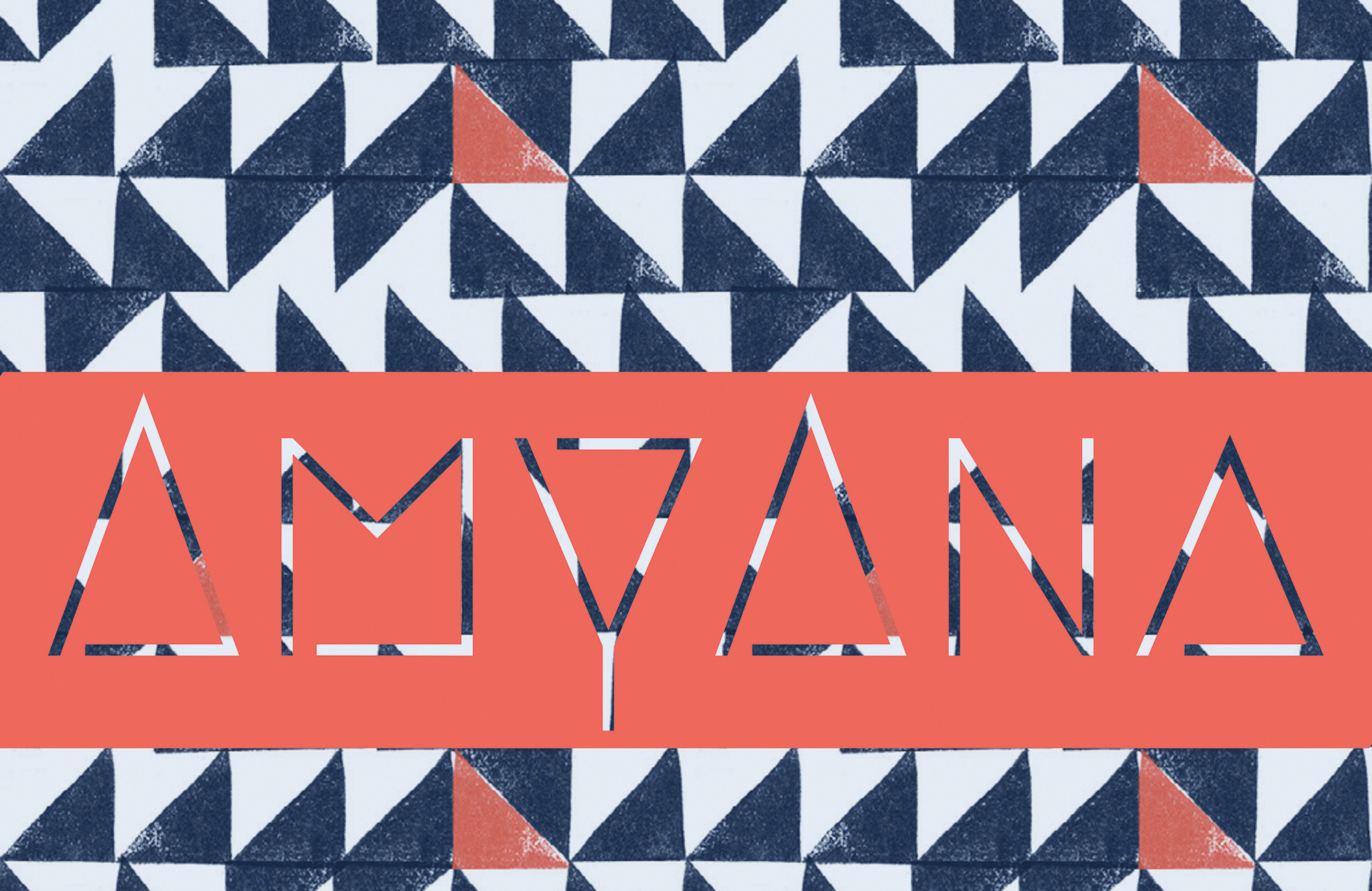 Cover Art from AmyAna, blue and white triangle background with orange stripe.
